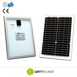 20W Solarmodul MONO 12V Solarpanel mit hohem Wirkungsgrad -