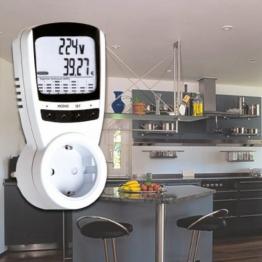 3680 Watt Stromkostenmeßgerät Stromverbrauch Energieverbrauch LCD Stromgerät -