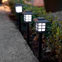 6er Set LED Solar Laterne Gartenleuchte Lights4fun -