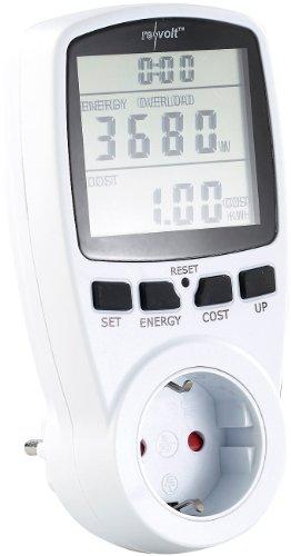 revolt Digitaler Energiekostenmesser mit XXL Jumbo Display, bis 3800 Watt -