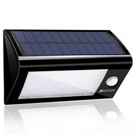 Solarleuchten Garten BESTOPE Solar Wandleuchte Solarlampe mit Bewegungsmelder Aussenleuchten Drahtlose IP65 Sicherheitslicht Lampen 28 Stücke LED für Wand, Garten, Terrasse, Treppen -
