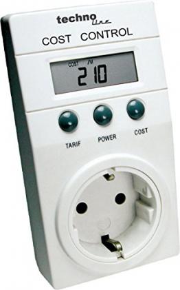 Technoline Cost Control Energiekostenmessgerät weiß -